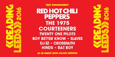 Other names:@the1975 @thecourteeners @twentyonepilots BBK @Slaves @DJEZOfficial @CrossfaithJapan @hindsband @RATBOY https://t.co/CvrB629ETm