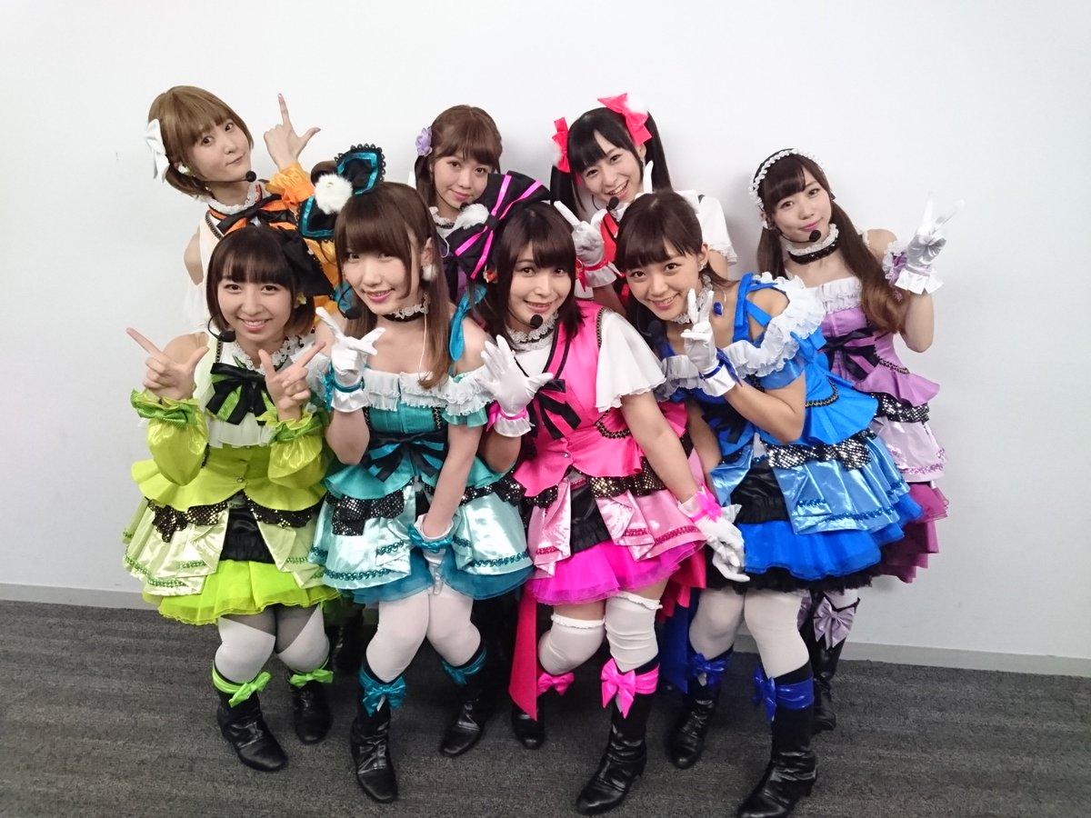 μ's初登場☆Mステ☆ありがとうございました♡ドキドキでしたー!本番前AKB48さんにご挨拶したらにこにーポーズをしてくださって感激♡キラセンもカメラワークをアニメに合わせてくださって本当に感謝です♪録画見るの楽しみw♡ #Mステ https://t.co/NNH8t2RMHA