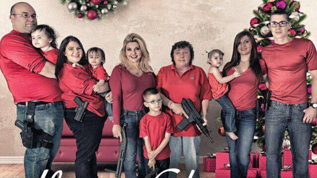 "The War on Xmas ""@TPM: Nevada lawmaker sends Christmas card featuring fully armed family https://t.co/LJCOpSp0sk https://t.co/P8MCJsmGcW"""