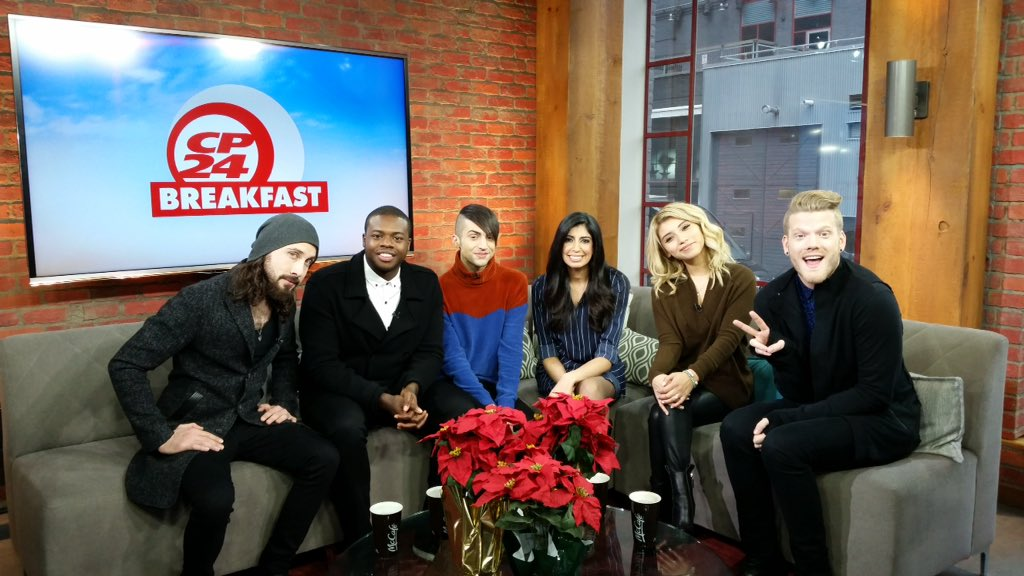 We got a taste of @PTXofficial's new holiday album #ThatsChristmasToMe with @poojahandatv on @CP24Breakfast! #PTX https://t.co/Ret3uhHMs8