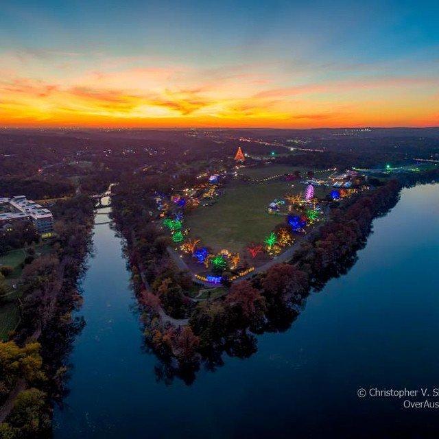 Austin's Trail of Lights at dusk by Christopher V. Sherman of https://t.co/CfpOrRqeu8. #ATX… https://t.co/0oT2ZprC2H https://t.co/wGDsGh0DcE
