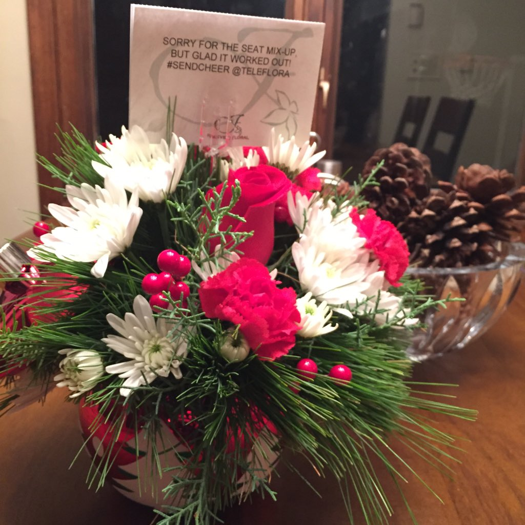 You guys, the @Teleflora team sent me these gorgeous flowers because one of my tweets to #sendcheer. THANK YOU!!! https://t.co/7fTO1l5eoB