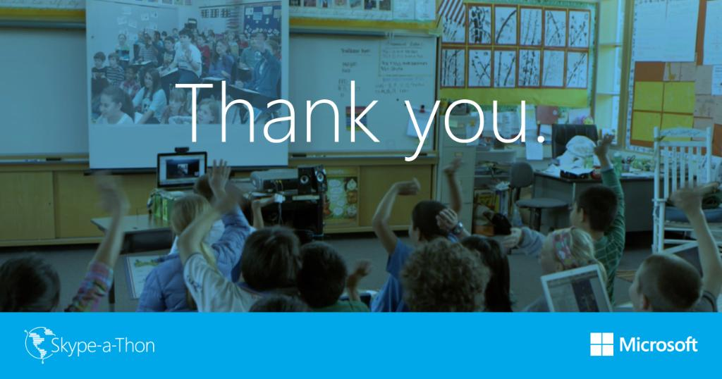 3 million miles! That's 120 times around the world in 2 days. THANK YOU to all who made #SkypeaThon possible! https://t.co/bCxNKFu4tS