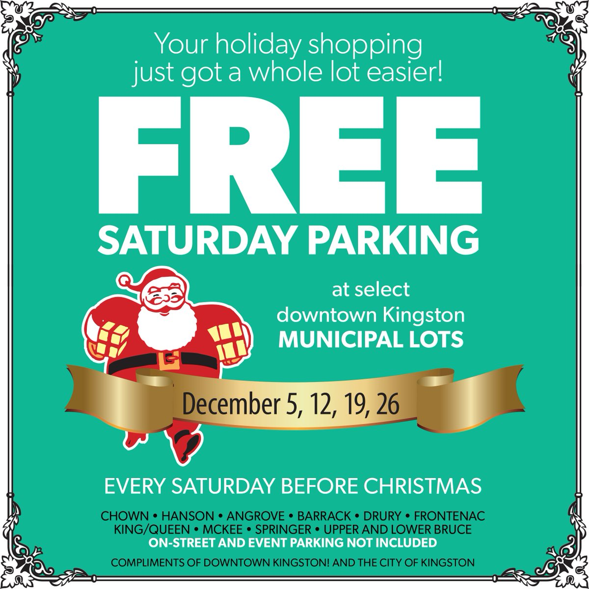 FREE Parking tomorrow and every Saturday in December in Downtown Municipal Lots! #ygk https://t.co/Y0QRX9itLs https://t.co/urKZ7Mx3KL