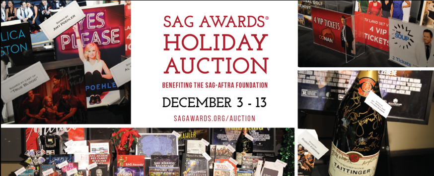 The SAG Awards Holiday Auction benefiting @sagaftraFOUND is live. Bid now! https://t.co/O8Dq3aMqxk @eBay4CharityUS https://t.co/g8aVgna3Vm