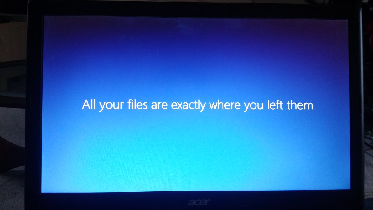 Particularly creepy post update message from windows, nothing has ever made me feel more like they won't be https://t.co/dvjamx5sX2