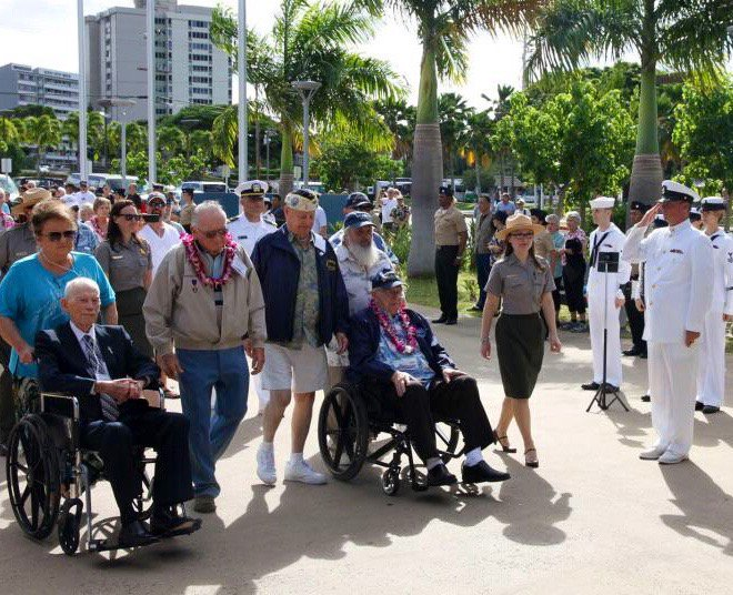 Pearl Harbor survivors are arriving hourly now for the memorial events Dec.7. #PearlHarbor74 #PearlHarbor https://t.co/WSUQerg9D7