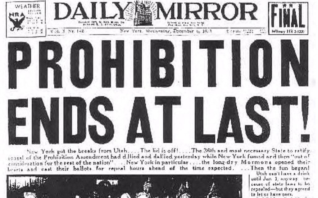 Happy Repeal Day! 82 years ago today, Prohibition ended. Cheers! #RepealDay https://t.co/k08u8kRiMK
