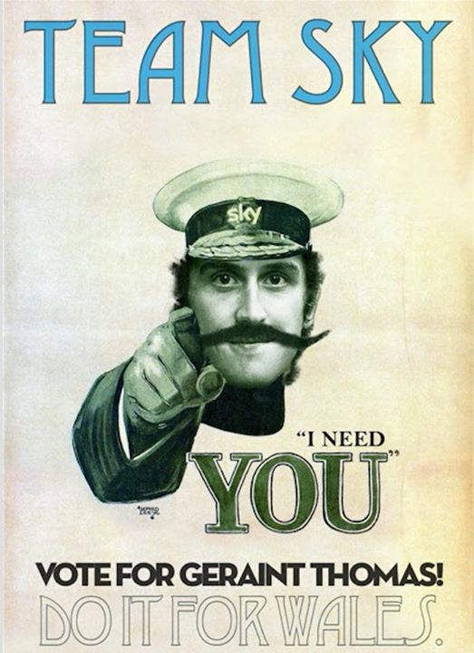 This man needs you! Vote G!! @GeraintThomas86 https://t.co/0F2XE2sONG