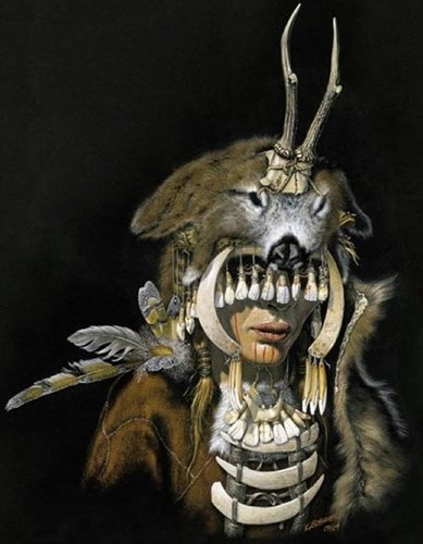 Rad. Illustration based on archaeological finds of Mesolithic female shaman, 7000-6500 bce https://t.co/d7RYcGGcVS https://t.co/LDqKlUWXF2
