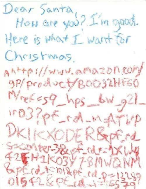 The best child's letter to Santa of 2015? https://t.co/OqL2DyGTp7