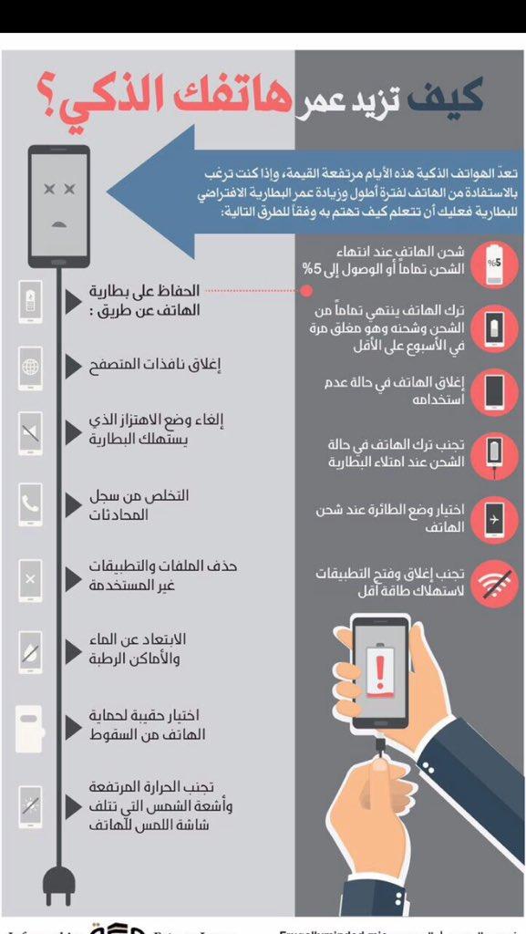 كيف تزيد عمر هاتفك الذكي   نصائح مهمة 👌🏻👌🏻 https://t.co/f8OCDao3u6