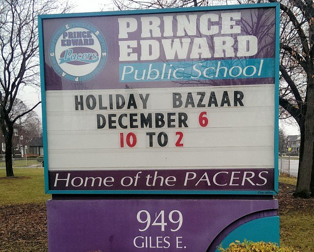 Prince Edward School Holding Holiday Bazaar https://t.co/lvULlN57Bl #YQG https://t.co/a3Fwlym7xP