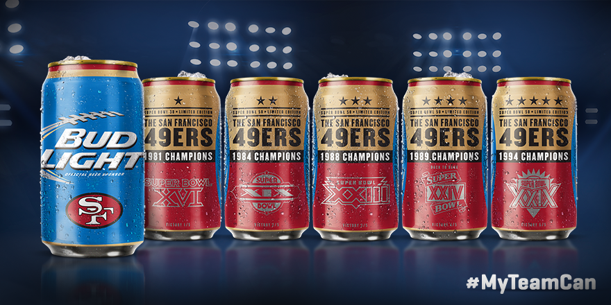 Jerseys NFL Sale - Introducing the 5-time Super Bowl Champion #49ers @budlight Super ...