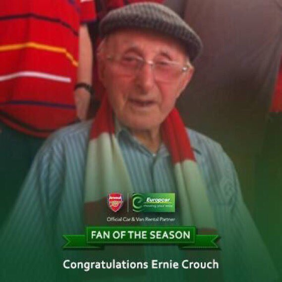 RIP Ernie.  Loved Arsenal no matter who was in charge or what position we were, win, lose or draw. https://t.co/Uy8K8ZWJzw