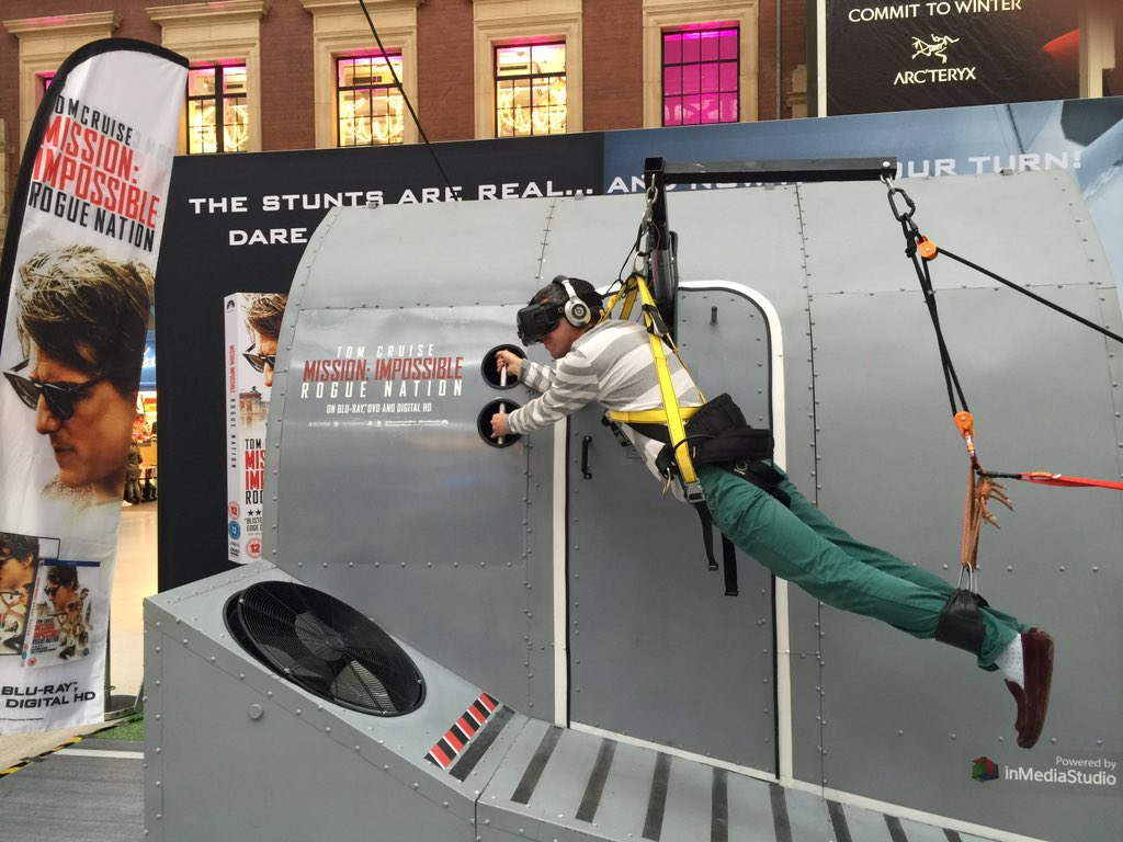 If you are near Victoria and have a few mins you have to check out the VR #MissionImpossible set up. V cool https://t.co/LAwxDIsqV1