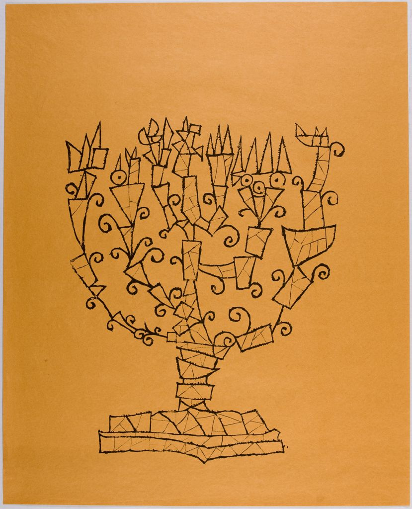 Happy #Hanukkah! Here's a print from our collections by Ben Shahn, made in 1965. https://t.co/Y1GtlvUhKh https://t.co/d1tkICdQE0
