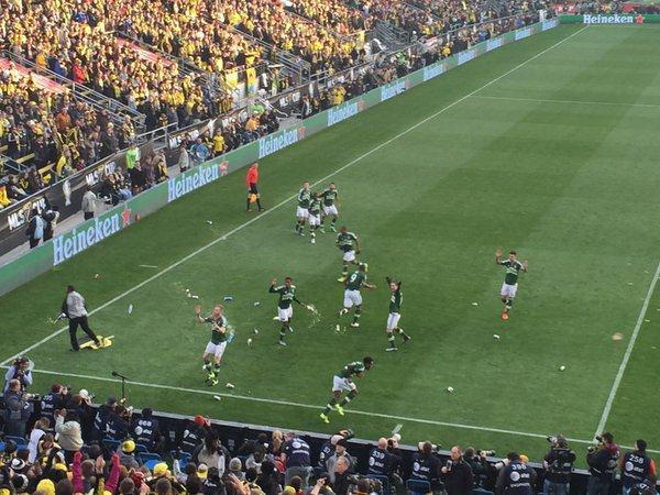 Image result for Portland Timbers Columbus Crew beer