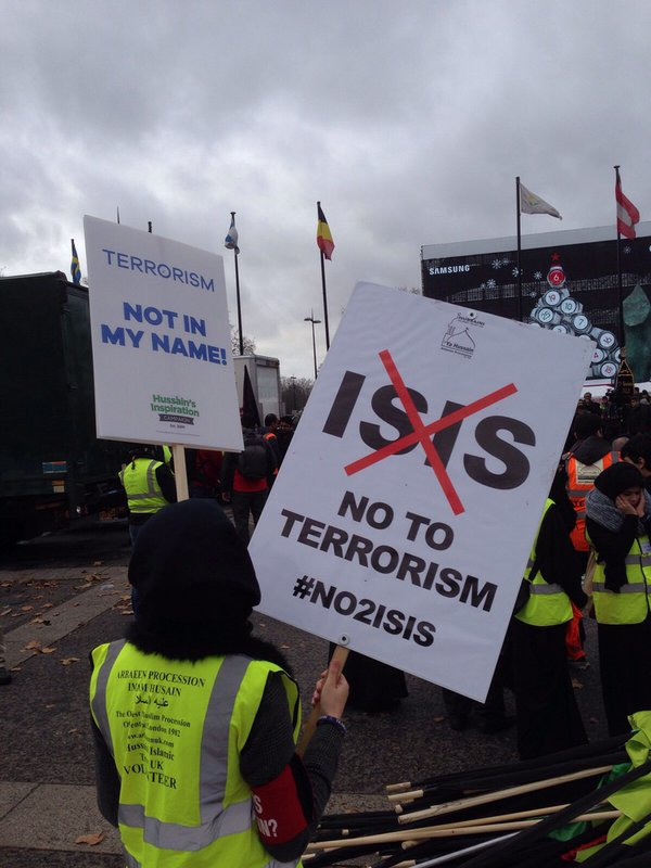 @RufusHound   Nobody can say British Muslims aren't speaking out. They marched against ISIS at Marble Arch today: https://t.co/a1Lpc9b2N7
