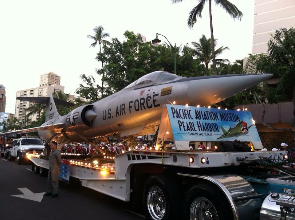 Pearl Harbor Memorial Parade is tmrw Dec.7, 6pm,Waikiki.We're getting our F-104 ready today. Mahalo Advanced Towing! https://t.co/hJjTET9rHB