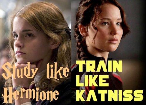 """""""Study like Hermione. Train like Katniss."""" https://t.co/DcxInRc3W8"""