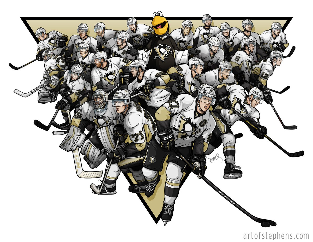 Just finished my @penguins 2015 team illustration! #pens #nhl https://t.co/bK96JiXYpZ https://t.co/1ArzMhhPgQ