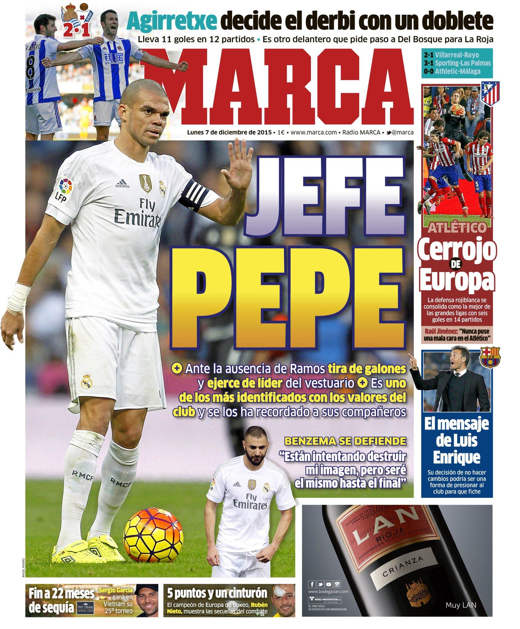 #LaPortada 'Jefe Pepe' https://t.co/M16Td4TFKy