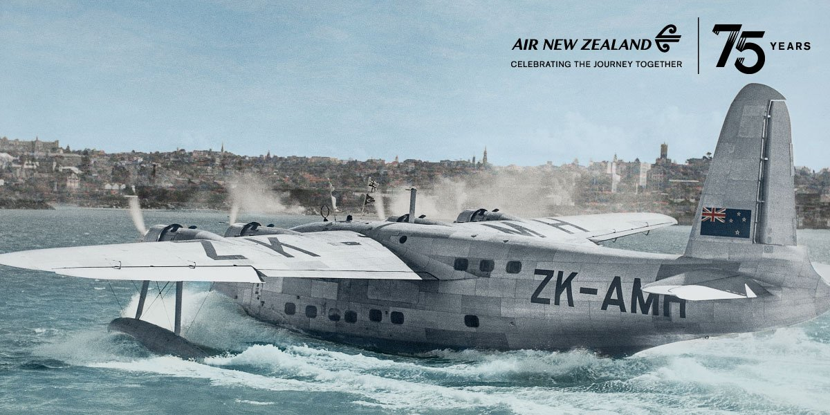 75 years of flying… and a bit of boating. Visit our AirNZ75 exhibition at @AucklandMuseum!