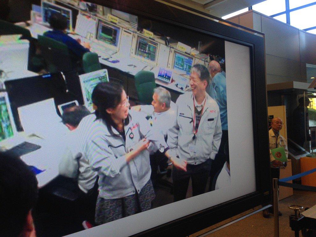 軌道の魔術師、廣瀬さんと中村PMのこの笑顔! この後がっちり握手! 撮り逃したけど瞬間が見れて良かった! #あかつき応援 https://t.co/Bl2XrEWNET