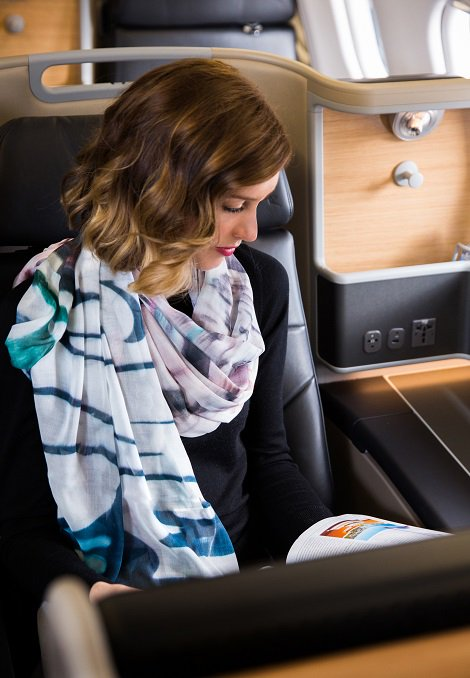 Fashionable flying for any occasion. Find the luxury Bird & Knoll scarf at the Qantas Shop: