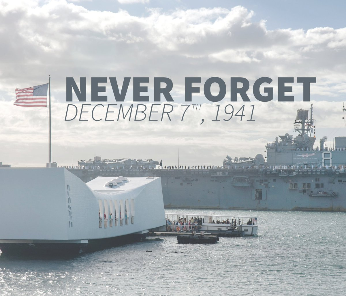 Never Forget December 7th, 1941 #PearlHarbor74 (Photo courtesy of U.S Navy) https://t.co/FiwcONrNTf