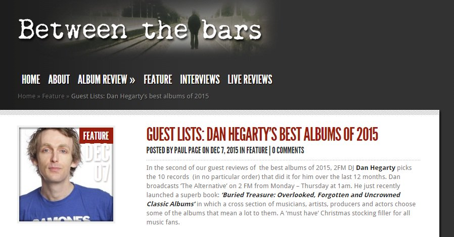 Some of my Albums of 2015 via Between The Bars (@pagep195) https://t.co/8HlR6y7UGg https://t.co/NLBcngZp41