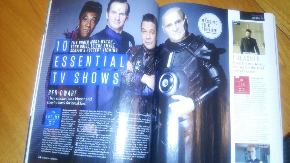 A bit of Red and Dwarfy goodness in the New SFX magazine. #RedDwarf https://t.co/vrhsd9PHNw