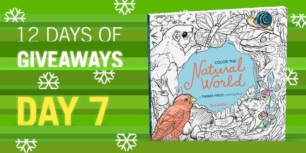 12 days. 12 books. 12 chances to win! COLOR THE NATURAL WORLD Follow & RT to enter https://t.co/l7DphoyYAs https://t.co/NrqPD8GCX8