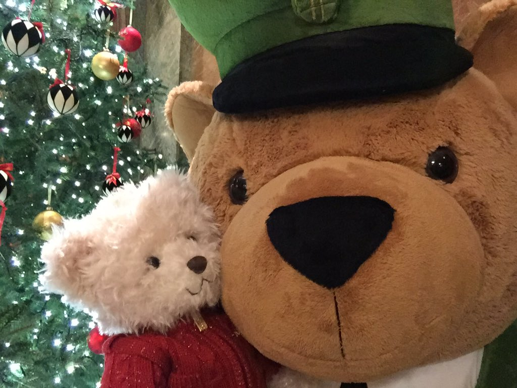 Join Benedict the #Harrods Christmas bear & take a #selfie w/ the @Harrods Green Man teddy!