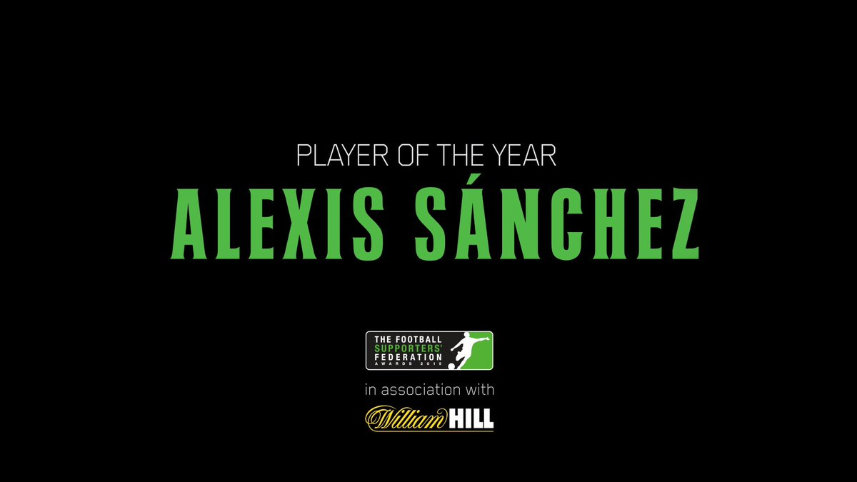 Happy to announce that Alexis Sanchez has won FSF Player of the year. Words from his manager Arsene Wenger shortly! https://t.co/S7i8brdRTb