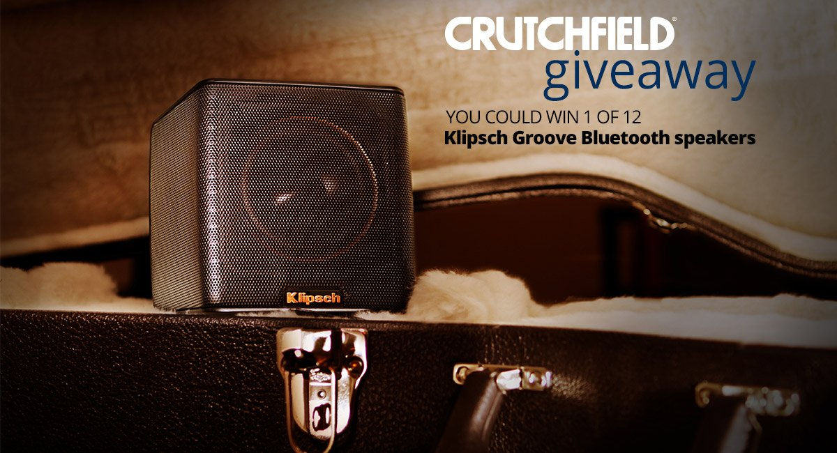 Just launched. Enter to win 1 of 12 @klipschaudio Groove speakers. https://t.co/NJcItg0upJ https://t.co/kMayDjyYn6