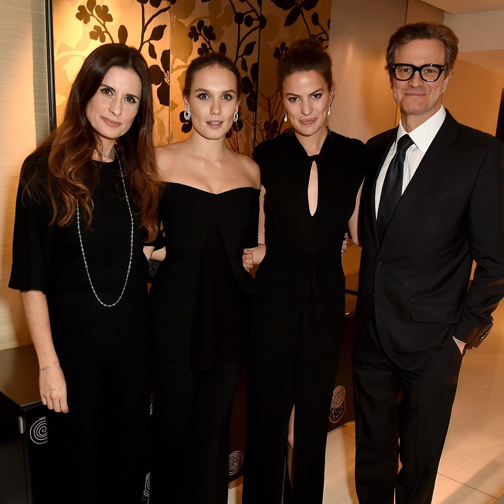 .@liviafirth @girardotana @CameronCRussell & Colin Firth at the GCC Global Leaders of Change Awards in Paris #COP21 https://t.co/0t7xx5JH6J