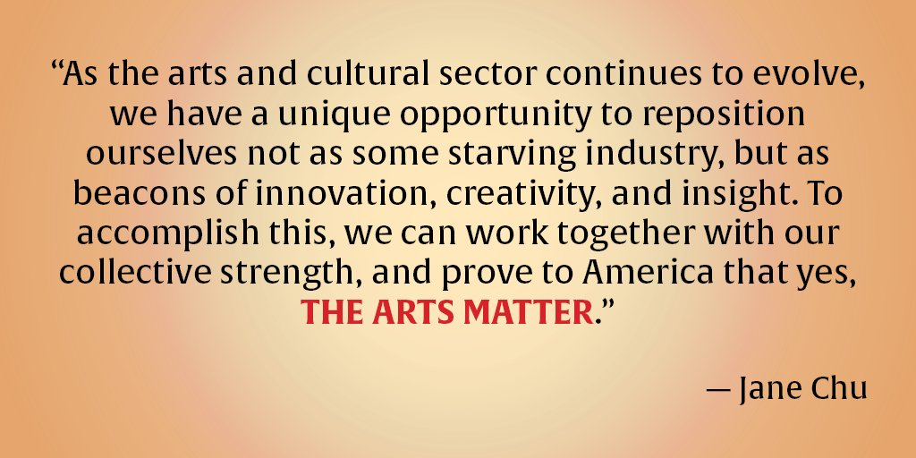 NEA Chair Jane Chu on how to grow the arts https://t.co/VDSiMJxYhP