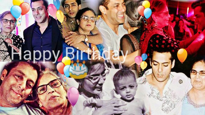 A very Happy Birthday   to mom thanks for giving us Salman Khan lots of love always