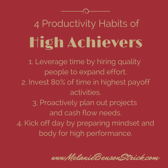 4 #productivity habits of high achievers (just try to master them!) #entrepreneur https://t.co/KepanZHklu