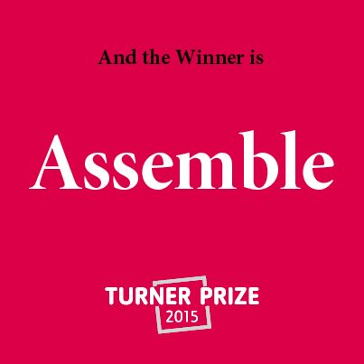 #TurnerPrize 2015.. The winner is assemble... Congratulations from #Glasgow https://t.co/COLQxIUIsZ