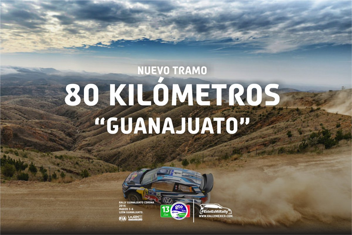 Este 2016 tendremos la etapa mas larga permitida por el reglamento del #WRC #Guanajuato80KM #EsteEsMiRally https://t.co/qLqOm45qi3