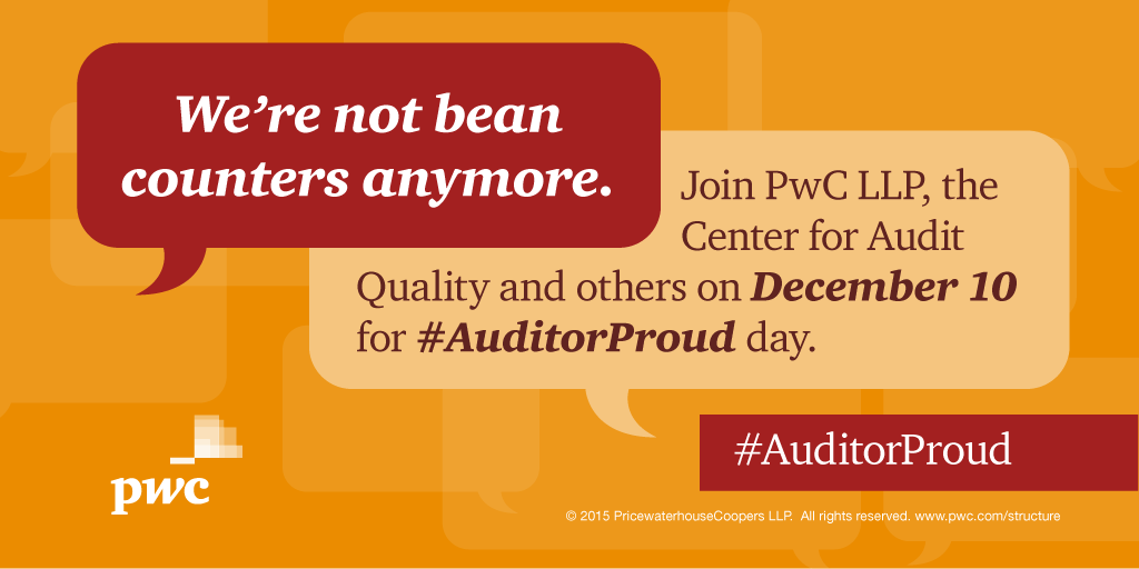 Join us, @TheCAQ & other members to hear about what makes us proud to be auditors, Thurs. 12/10 #AuditorProud #PwC https://t.co/NZf3QJMsEj