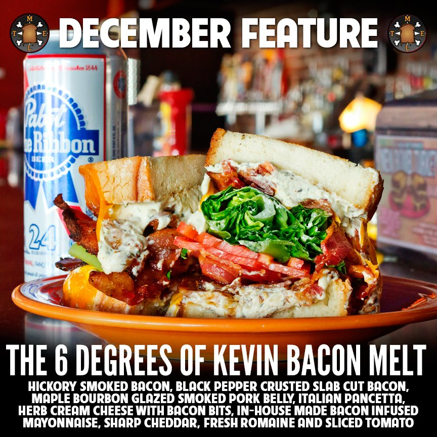 Presenting the #6DegreesofKevinBaconMelt  Cheese & Bacon! Only available in December @MeltBarGrilled #GiveGallons https://t.co/trNYrpbKlv