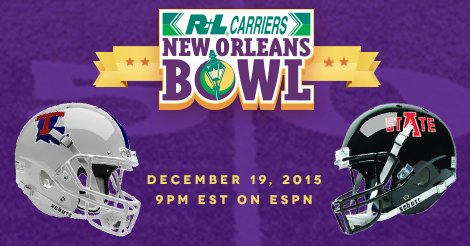 2015 @NewOrleansBowl features @LATechFB vs @RedWolvesFBall.   READ: https://t.co/e0eyKzZ8s5 #BowlDogs #WolvesUp https://t.co/H1cscvEqTO