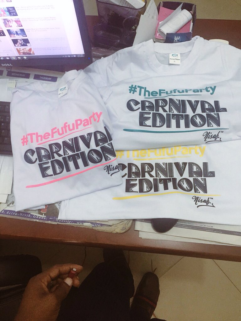 "#TheFufuParty ""carnival edition"" branded t-shirts by @thenisafshop"