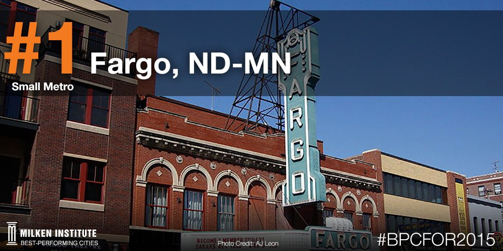 #Fargo, #ND is the top #bpcfor2015 small metro for the second year in a row! https://t.co/u0FjJq0V2i @cityoffargo https://t.co/TNLVcor9d2