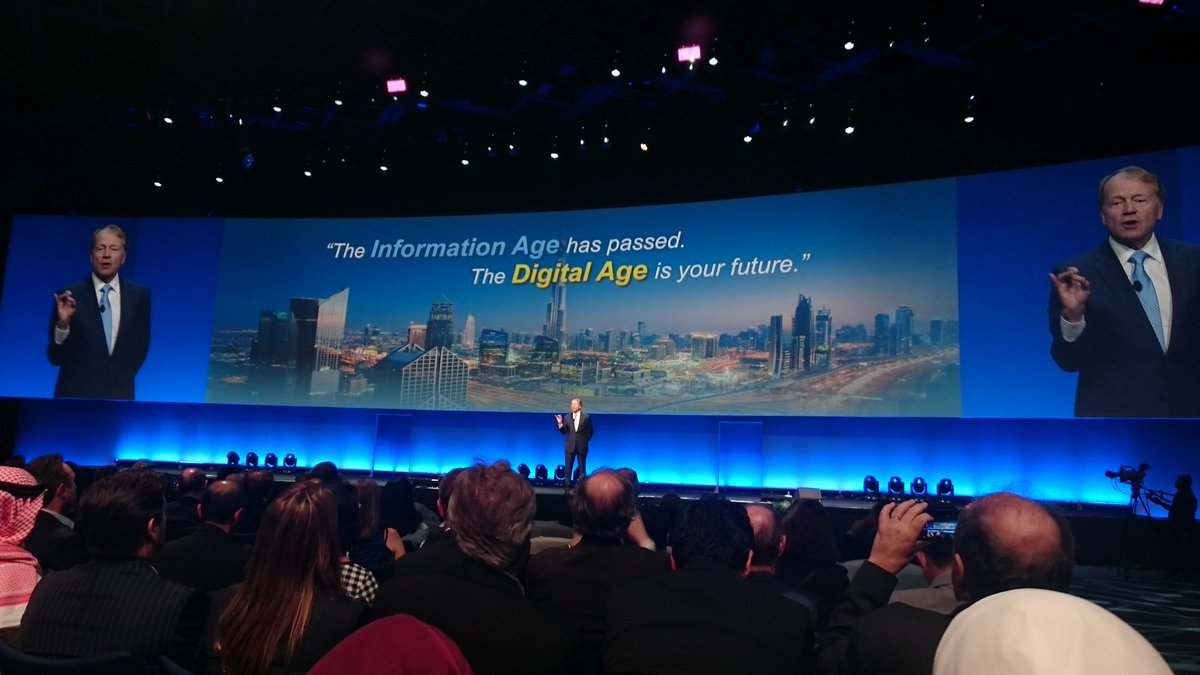"""The Information Age has passed. The Digital Age is your future."" - John Chambers #IoTWF @Cisco_SA @Cisco_IoT https://t.co/Oll3V5RJdZ"