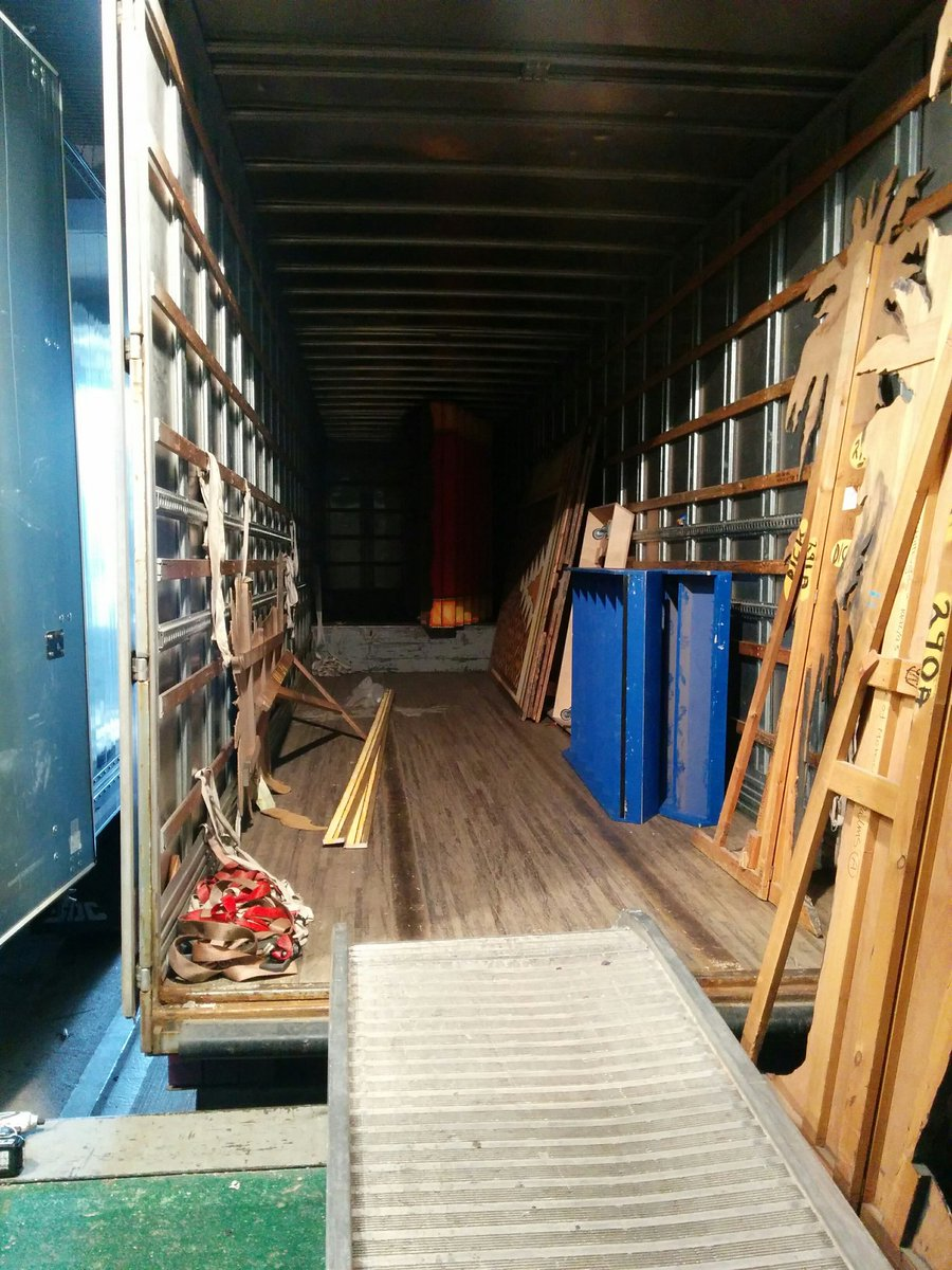 The trucks are emptied, the stage is set! Panto 2015 just 3sleeps away! @SamBaileyREAL @Andyshowbiz @MelanieMasson1 https://t.co/OAYnukrtiB